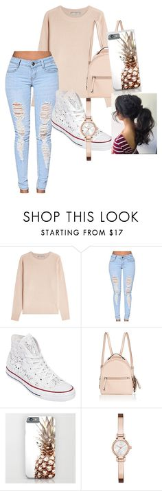 """""""Causal day out"""" by tamekaramseur on Polyvore featuring Vince, Converse, Fendi and DKNY"""