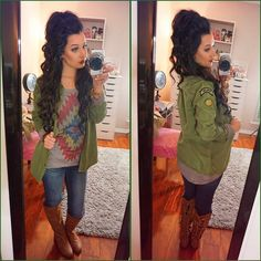 OOTD Shirt & Boots are from @shophopes | Jacket is from Pacsun!