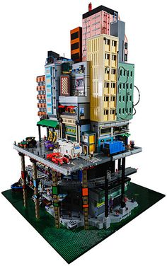 Cyberpunk city 022 by Chris Edwards on Flickr. Wow, crazy awesome MOC!