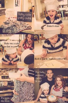 """A {PATTY CAKE} Announcement . . . """"We're having another baby boy!   Baby #2 gender reveal announcement with sibling :)"""""""