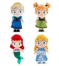 """Criança Ariel cinderela boneca de pelúcia Elsa Anna boneca de pelúcia 30 cm 12 """" Toy presente de aniversário(China (Mainland))"""