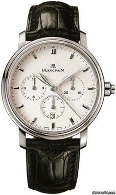 Blancpain [NEW] Villeret Chronograph Monopulsante (Retail:HK$121,000) - Great Disocunt to: HK$ 73,000.