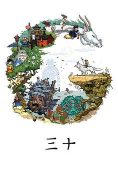 ©Milena Młynarska tribute to Studio Ghibli. 2015
