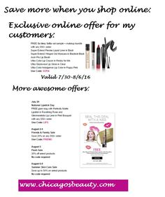 Check out these Avon Coupon Codes for 7/30-8/8. Codes cannot be combined and expire at midnight on the day listed. To redeem, go to my Avon store. If you want more coupon codes, fill out the contac…