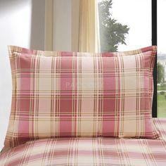 $16.99 Delicate Pink Plaid 100% Cotton Single Pillowcase