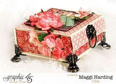 Box, Children's Hour, Maggi Harding, With Petaloo Flowers, Graphic 45