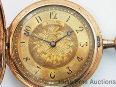 Unusual American Made Gruen Verithin Odd Mens Hunter Pocket Watch #Gruen