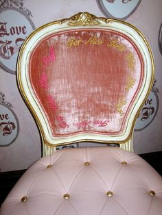 Juicy Couture chair-need for my dressing room