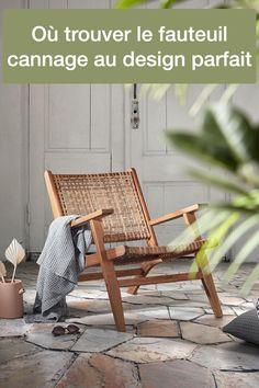 Où trouver un fauteuil cannage design et vintage ? Blog décoratrice architecte intérieur conseil déco Clem Around The Corner Clem, Deco Retro, Around The Corner, Vintage Design, Vintage Decor, Yellow Ottoman, Brass Lamp