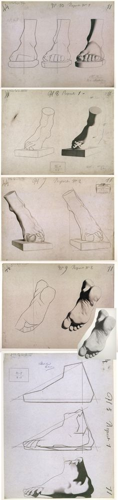 Charles Bargue Drawing Course. leg. foot