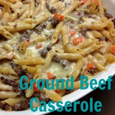 Ground Beef Casserole After talking with my friend about how to stop feeling like a short order cook, she shared this ground beef casserole recipe and we haven't looked back. Packed with flavor  ...