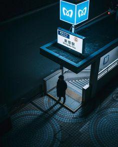 Photographer Jun Yamamoto Captures The Magic Of Japan Streets At,der fotograf jun yamamoto hält die Night Street Photography, Film Photography, Landscape Photography, Fantasy Photography, Animal Photography, Tokyo Ville, Illustration Photo, Japan Illustration, Japan Architecture