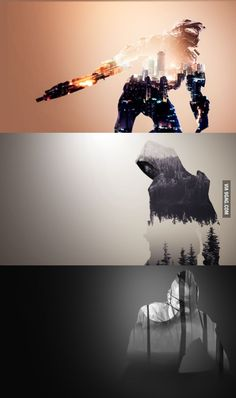Double exposure gaming designs made by me (write in the comment what series, movie, game you want to see) - 9GAG