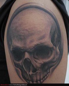 Bob Tyrrell Skull Tattoo