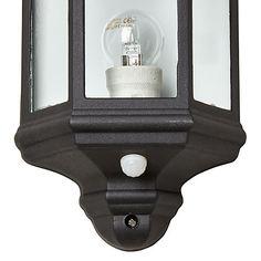 Buy John Lewis & Partners Harris Outdoor PIR Sensor Half Lantern from our Garden & Outdoor Lighting range at John Lewis & Partners. Motion Detector, Outdoor Lighting, John Lewis, Outdoor Gardens, Lanterns, Lights, Exterior Lighting, Gardens, Lamps