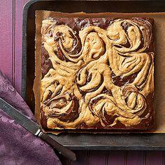 Peanut Butter Swirl Chocolate Brownies