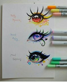 Realistic Drawings Mythical Creatures - Eye Edition by Lighane - Amazing Drawings, Beautiful Drawings, Cute Drawings, Drawing Sketches, Drawing Faces, Drawing Tips, Anime Eyes Drawing, Manga Eyes, Unicorn Drawing