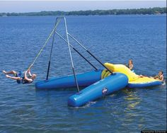 The Floating Rope Swing would be perfect at the lake house!