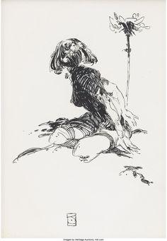 Jeffrey Catherine Jones - pen and ink Ink Pen Drawings, Drawing Sketches, J Jones, Richard Scarry, The Draw, Moleskine, Comic Artist, Figure Drawing, Female Art