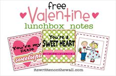 24 Valentine Lunchbox Notes