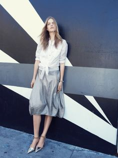 Eileen Fisher Linen Lantern Skirt #FebruaryCatalog #Nordstrom