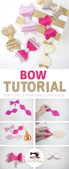 Chunky 3 Layer Girls French Bow DIY & Tutorial #hairbow #hairbowtutorial Floating Shelves Diy, Hacks Diy, Wall Shelves, Hair Bow Tutorial, Diy Tutorial, Stylish, Sewing Projects For Beginners, Diy Bow, Old Dogs