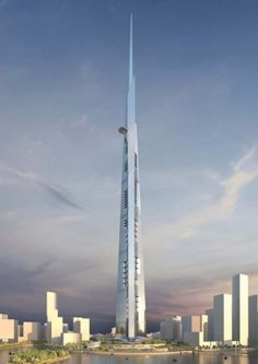 Kingdom Tower, Saudi Arabia, Jeddah, future, architecture, futuristic, building, tower, skyscraper, Kingdom City, fantastic, tallest, 2017 by FuturisticNews.com