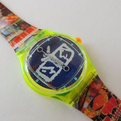 Swatch Watch Zapping SLZ104 Nam June Paik artist by CoolRelics