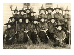 'School for Witches' Prints | AllPosters.com Vintage Witch Costume, Vintage Witch Photos, Witch Costumes, Halloween Costumes, Witches Costumes For Women, Antique Photos, Halloween Photo Frames, Vintage Halloween Photos, Theme Halloween