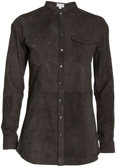 I am INTO this Allez Allez suede button up! At insbuyr.com NOW
