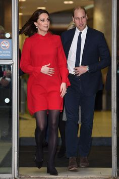 The Duke and Duchess made their visit to the Blue Peter set while in Salford on Wednesday ...