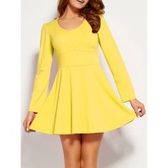14.51$  Buy here - http://di8dk.justgood.pw/go.php?t=199514002 - Long Sleeve Fit and Flare Mini Dress 14.51$