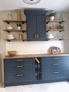 Ikea Kitchen Cabinets, Kitchen Nook, Painting Kitchen Cabinets, Diy Kitchen, Kitchen Ideas, Kitchen Counters, Kitchen Islands, Kitchen Hacks, Kitchen Inspiration