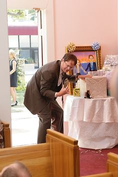 #TheOffice Dwight discovers one of the turtles he gave Jim and Pam as as a wedding gift to cook and eat, escaped.  Somehow I find it more likely that theb turtles would  become their pets rather than them eating them!