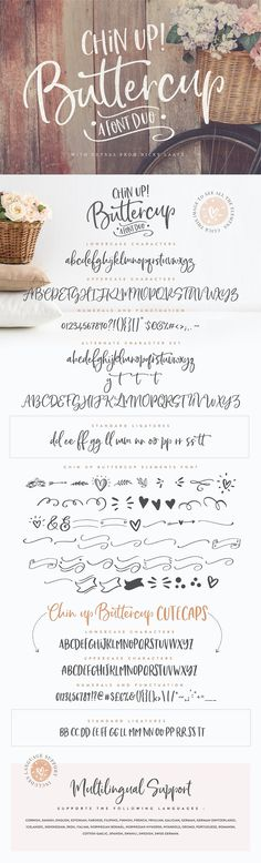 Creative and Casual, together or apart, Chin up Buttercup Fonts and Illustrated Doodles allow you to make tons of gorgeous typographic designs in a jiffy, just in time for all your Christmas labels, cards and branding too! Perfect for DIY projects, greeting cards, labels, quotes, posters, wall art, branding, packaging, websites, photos, photo & photography overlays, signs, window art, scrapbooking, tags and so much more! #font #fontspiration #cardesign #lettering