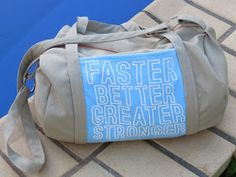 Creating my way to Success: A new duffel bag