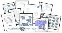 Elephant Preschool Printables Free