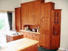 armoires de cuisine pin noueux et écologique