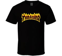 Cool Thrasher Magazine Classic Retro Skateboard Skater T Shirt Thrasher Magazine, Sport T Shirt, Skateboard, Retro, Cool Stuff, Classic, Sports, Mens Tops, Fashion
