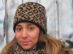 """A faux fur hat with a fun, unusual """"colpack"""" construction."""