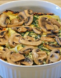 Spinach and Kale Lasagna ~ Delicious! Especially if you don't like tomato sauce! Enjoy!