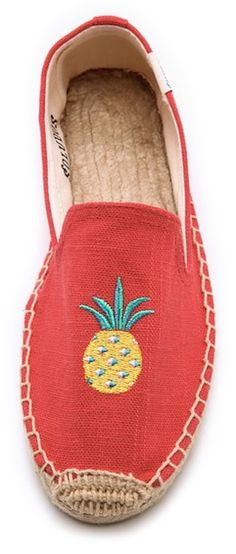coral pineapple flats