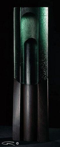 Cast Glass Sculpture Peter Kovacsy