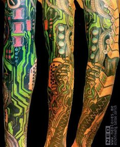 Biomechanical Tattoo by Delaine NEO Gilma?
