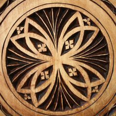 Wood Chipped Carving Design