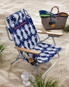 Tommy Bahama - Pineapple Deluxe Backpack Beach Chair and Lots of good stuff!