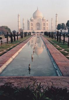 The Taj Mahal in India, one of the Seven Wonders of the World.