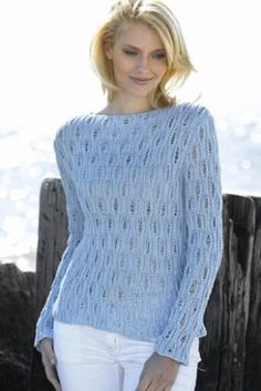 Openwork Boatneck Lace Pullover Sweater Free Knitting Pattern | More Lace Pullover Knitting Patterns at http://intheloopknitting.com/free-lace-pullover-knitting-patterns/