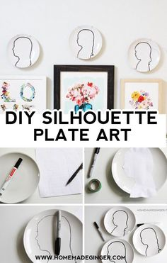 All you need is sharpies, paint pens and plates to make this DIY silhouette plate art. No Photoshop or fancy equipment is required!