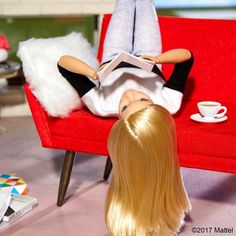 At the edge of my seat with this story, I always enjoy getting lost in a book! 📕 #barbie #barbiestyle